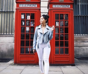 jacket, london, and telephonebooths image