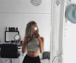photography inspiration, girl site model, and mirror selfie outfit image