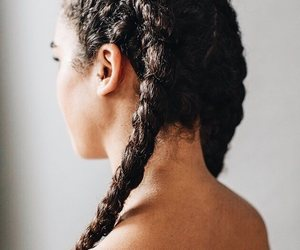 braids, curly hair, and hairstyles image