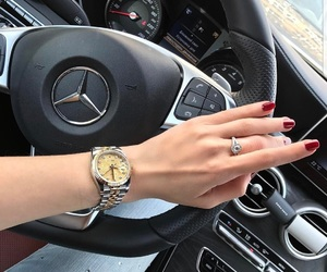 luxury, rolex, and car image