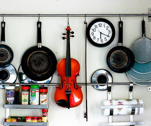 kitchen and violin image