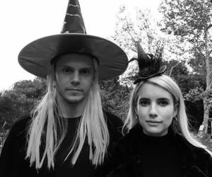 emma roberts, evan peters, and Halloween image