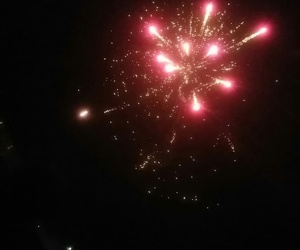 bonfire night, fireworks, and gold image