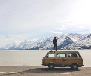 mountains, travel, and car image