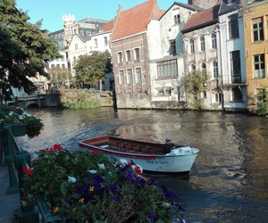 belgium, Ghent, and riverside image
