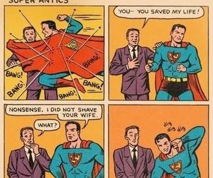 superman, funny, and comic image