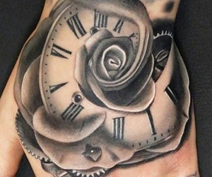clock, inked, and ink image