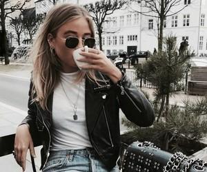 girls, aesthetic, and coffee image