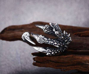 dragon, goth, and dragon ring image