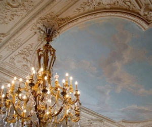 chandelier, gold, and light image