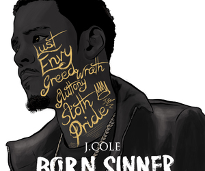 j. cole, dope art, and born sinner image