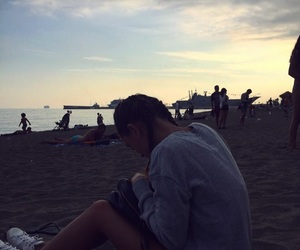 beach, girl, and homesick image