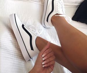 black and white, style, and tennis shoes image