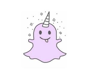 snapchat, unicorn, and overlay image