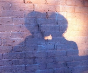 blue, shadow, and couple image
