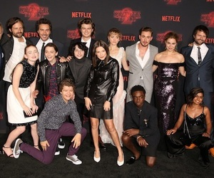 cast, netflix, and stranger things image