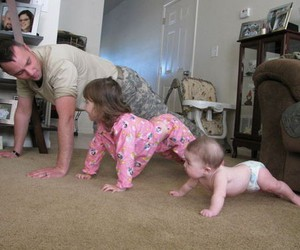 baby, kid, and soldier image
