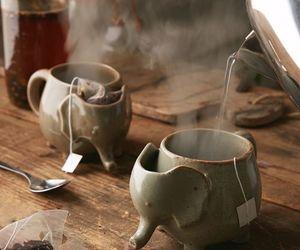 tea, elephant, and mug image