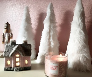 christmas, holiday, and light pink image