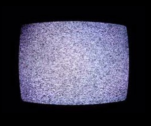 grunge, pale purple, and tv static image