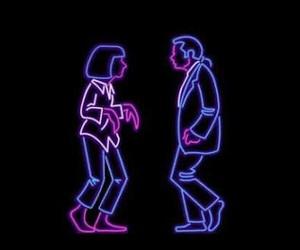 dance, neon, and retro image