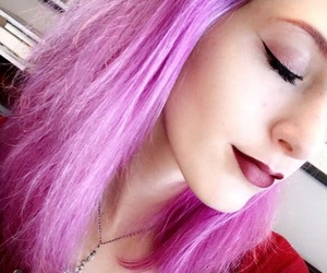 colored hair, eyebrows, and cosmetics image