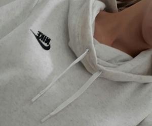 hoodie, nike, and girl image