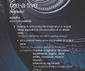 creative, definition, and dictionary image
