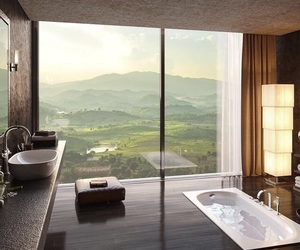 bathroom, view, and home image