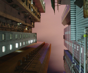 city, grunge, and pink image