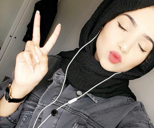 hijab, beauty, and حجاب image