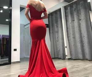 mermaid, off the shoulder, and prom dress image