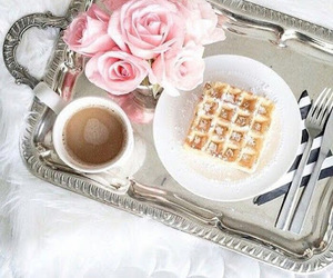 breakfast, coffee, and roses image