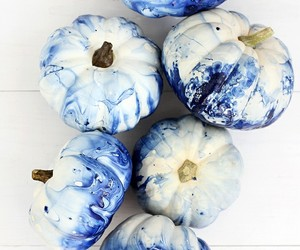 blue, pumpkin, and art image