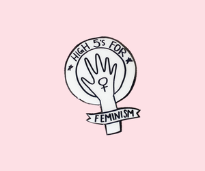 feminism, pink, and wallpaper image
