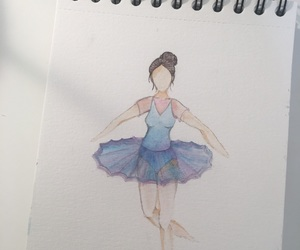 ballerina, drawing, and sketch image
