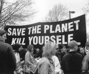 kill, planet, and black and white image