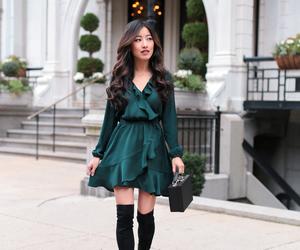 boots, dress, and elegant image