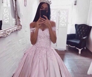 dress, princess, and luxury image