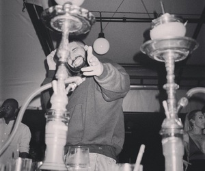 b&w, champagne papi, and Drake image