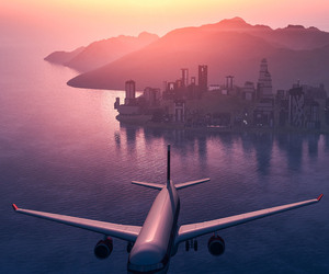 background, pink, and plane image