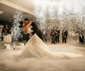 beautiful, couples, and sparklers image