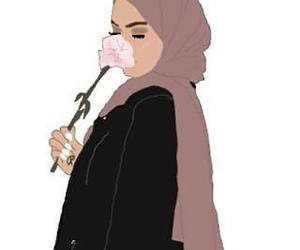 drawing, hijab, and islam image