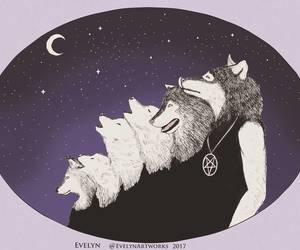 moon, werewolves, and wolves image
