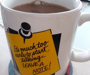 coffee, morning, and note image