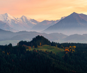 Clearing, hills, and mountains image