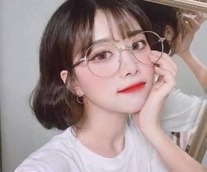 glasses, kfashion, and ulzzang image
