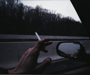 cigarette, grunge, and smoke image