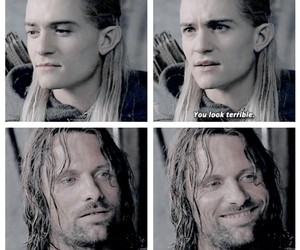 aragorn, orlando bloom, and Legolas image