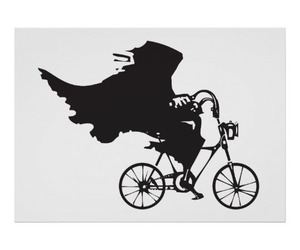 bicycle, black and white, and death image